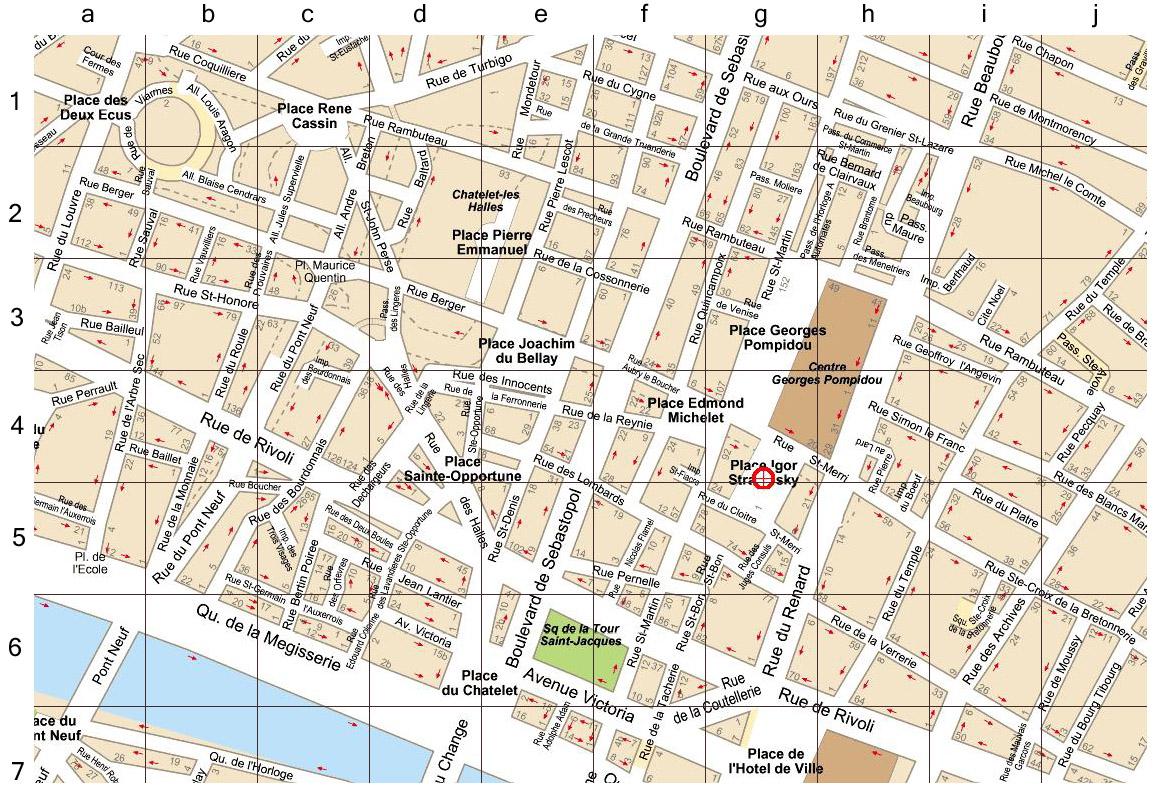 NIME IRCAM Paris - Map of paris districts